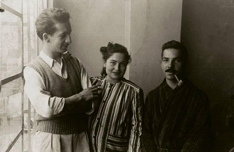 Hernando Tejada Con Antonio Valencia y Lucy tejada. 1948