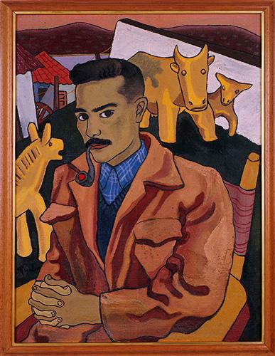 Autoretrato Hernando Tejada. Óleo sobre lienzo. 1948