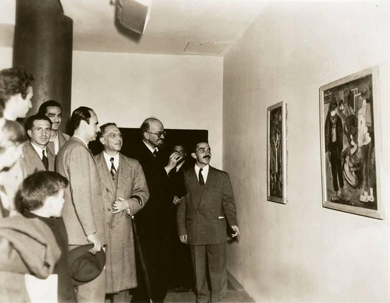 León de Greiff, Ignacio Gómez Jaramillo, Omar Rayo y Hernando Tejada. 1949